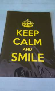 Keep Calm and Smile notebook
