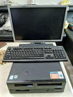 薄型 桌上型電腦 文書機 整組含螢幕鍵盤滑鼠