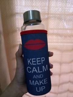Tumblr Glass KEEP CALM AND MAKE UP #AFbakrie
