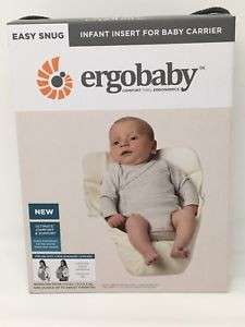 Ergobaby Infant Insert AND Ergobaby Organic Carrier