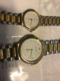 CYMA情侶裝手錶一對