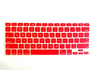 """Macbook 13"""" Keyboard Protector (Red)"""