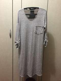 🚚 淺灰色舒服棉線長裙