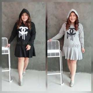 Chanel hoodie dress for plus size