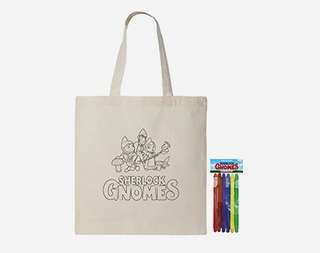 Sherlock Gnomes Bag with coloring kit