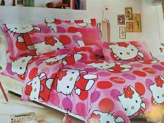 4in1 2 pillow case, 1 kumot, 1 bedsheet Queen & king size