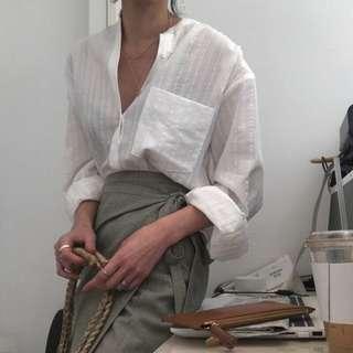 🚚 韓版OL大口袋襯衫