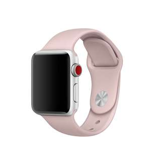 42‑mm Pink Sand Sport Band — S/M and M/L