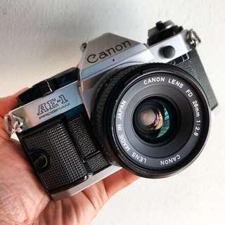 Canon AE-1 Program FD 28mm 2.8 lens