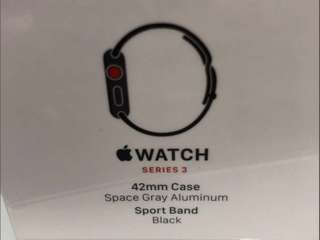 Apple Watch series 3 42mm space gray gps and cellular