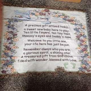 Baby blanket new