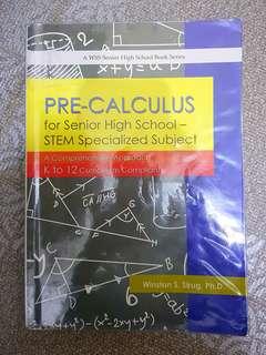 Pre-Calculus K to 12 Book