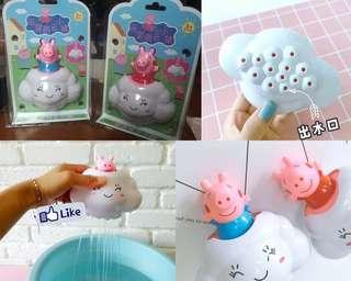 (現貨)佩佩豬雲朵洗澡玩具
