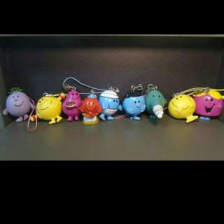 Mr Men & Miss little keychains