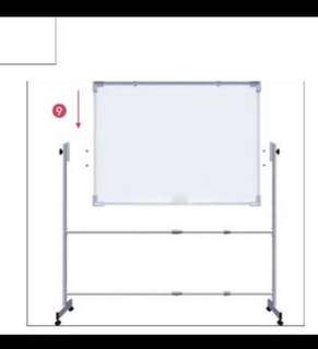 Whiteboard adjustable white board