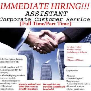 Corporate Customer Service Officer
