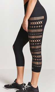 Forever 21 geo cut Capri leggings