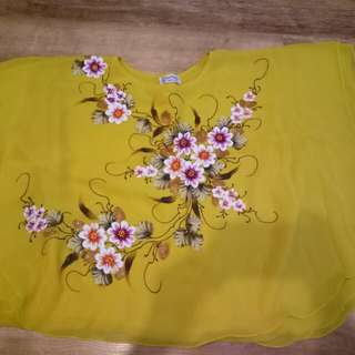 Yellow Flower Batwing