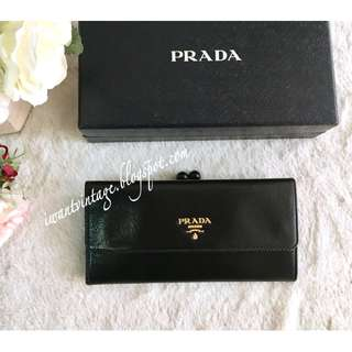 Prada 1M1306 Madras Chic Wallet-Black
