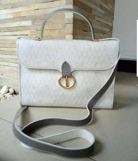 Preloved Authentic Dior Kelly White Bag