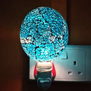 Mosaic Glass Lamps with plug in wall socket