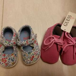 bb 鞋仔 2 對,3-6 months,約11cm長
