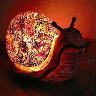 BNIB Mosaic Glass Lamps Snail