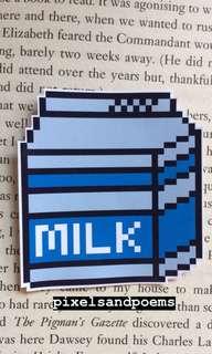 Milk pixel sticker ✨🥛
