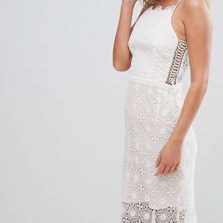 Bec & Bridge Daisy Chain Lace Midi Dress