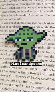 Yoda pixel sticker ✨💚