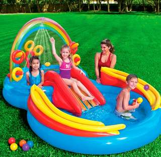 Water/Ball Play Center Swimming Pool with Slide