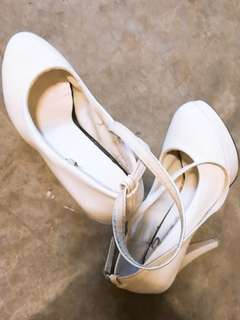 Free with purchase white heels