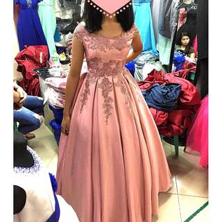 Debut Prom Birthday Graduation Ball Evening Pink Gown for Rent Sale