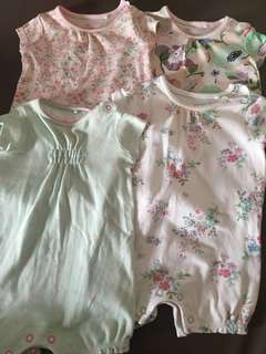 Next Baby Rompers set of 4