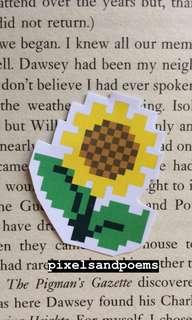 Sunflower pixel sticker ✨🌻