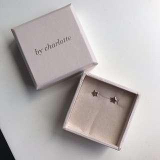 By Charlotte Rose Gold Stud Star Earrings