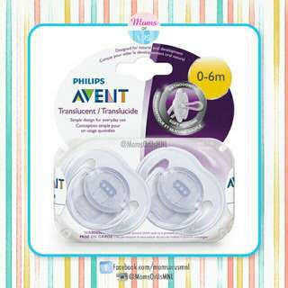 "‼️NEW‼️AVENT ""Translucent"" Pacifier 0-6m (CLEAR)"