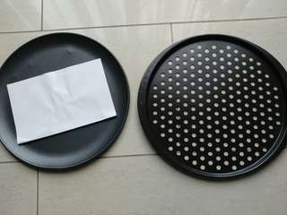 Brand New 2 Nordic Ware and Probake Pizza Pans 12""
