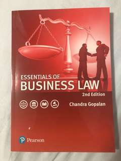 Essentials of business law (2nd edition) by Chandra Gopalan