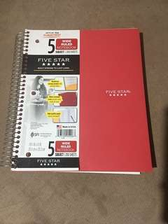 Five Star Wide Ruled Notebook