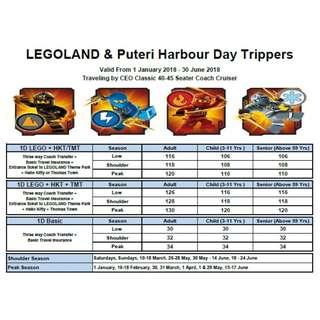 LEGOLAND & Puteri Harbour Day Trippers