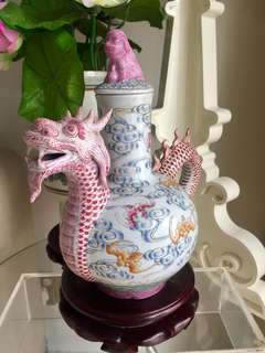 Vintage Dragon Tea Pot