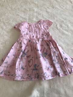 Mothers care pink bunny dress 18Months