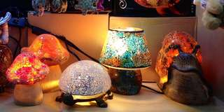 Turkish Mosaic Lamps Animals Handmade