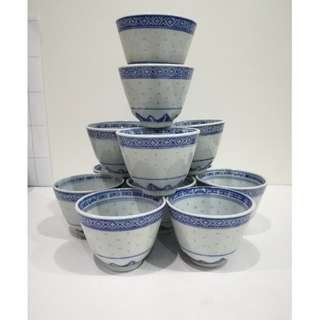 12 Pcs Rice Pattern Tea Cup