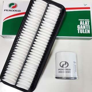 Air & Oil Filter for Perodua Myvi 1.3,1.5 Alza Original