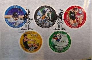 1996年亞特蘭大奧運首日封及小全張(紐西蘭郵政出品)