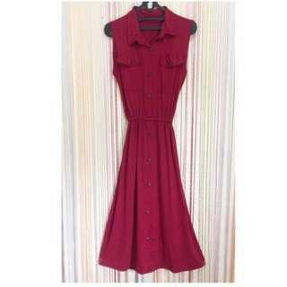 Vest Long Dress