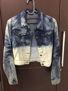 NEW ombre denim jacket