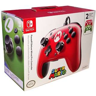 PDP 500-069-NA-SM00 Nintendo Switch Faceoff Wired Pro Controller Mario